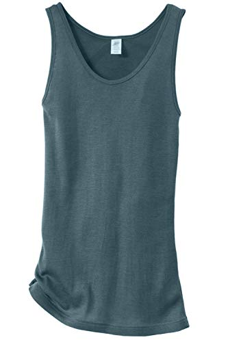 Women's Thermal Tank Top for Layering, 70% Organic Merino Wool 30% Silk (46-48 / Large, Atlantic)