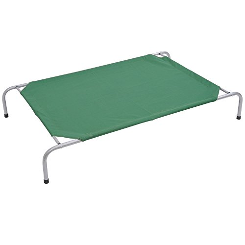 """Pawhut 43"""" x 31"""" Elevated Dog Bed / Pet Cot - Green"""