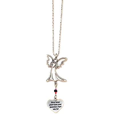 Cathedral Art KT230 Never Drive Faster Angel Ball Chain Car Charm: Arts, Crafts & Sewing
