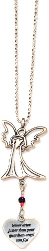 Cathedral Art KT230 Never Drive Faster Angel Ball Chain Car Charm -