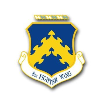US Air Force 8th Fighter Wing Decal Sticker 5.5