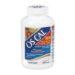 Os-Cal 500 + D Calcium Supplement with Extra Vitamin D - 300 Caplets by OsCal