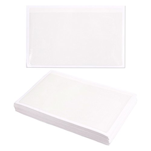 50 Pack Self Adhesive (50-Pack Self-Adhesive Index Card Pockets with Open Sides - Ideal for Organizing and Protecting Your Index Cards - Crystal Clear Plastic, 5.5 x 8.8 Inches)