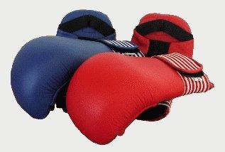 Gr Sportland Karate Kumite Faustsch/ützer rot S.B.J XL