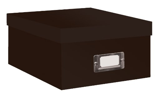 Pioneer B 1 Photo   Video Storage Box   Holds Over 1 100 Photos Upto 4X6  Or 10 Vhs Videos  Solid Color  Dark Brown