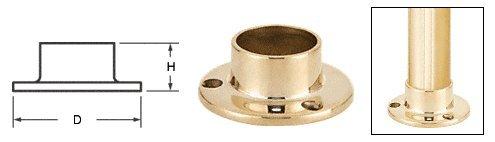C.R. LAURENCE HR15YPB CRL Polished Brass Full Flange for 1-1/2