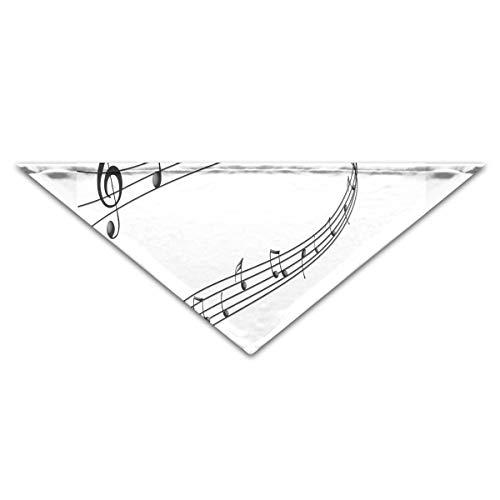 HJudge Dog Bandana Musical Notes Paint Dog Scarf Personalized Pet Triangle -