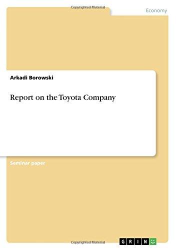 Report on the Toyota Company pdf