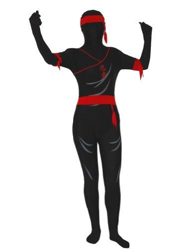 AltSkin Unisex Full Body Spandex/Lycra Suit, Ninja,
