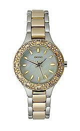 DKNY Two-Tone with Glitz Stainless Steel Women's watch #NY8742 from DKNY