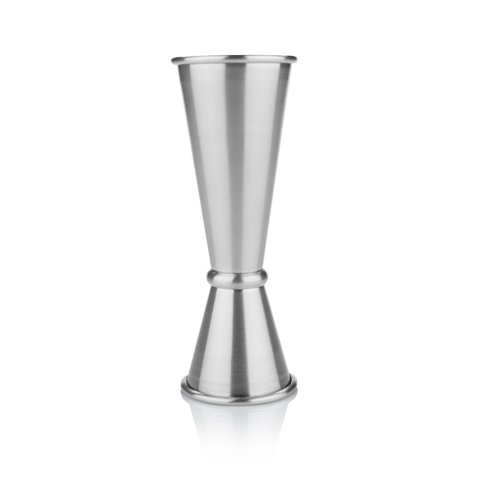 Jigger Cocktail, Vintage Professional Double Stainless Steel Cocktail Jigger (Sold by Case, Pack of 6) by True Fabrications