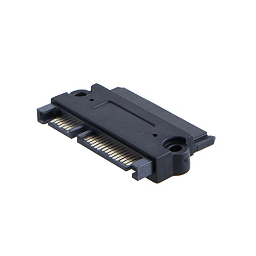 CableCreation SATA 22 pin Male to SATA 22 Pin Adapter Female، SATA 22 pin (7 15) Adapter Adapter Female Female for 2.5D HDD، Black