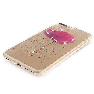 Fundas y estuches para teléfonos móviles, Para el iphone 7 7 más 6 6s más 5 5s caso del caso de s cubierta patrón hd pintado taladro material del tpu imd proceso caja alta del ( Modelos Compatibles :  IPhone X