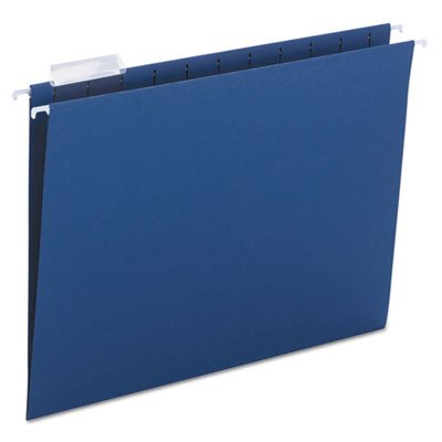 Hanging File Folders, 1/5 Tab, 11 Point Stock, Letter, Navy, 25/Box, Sold as 25 Each