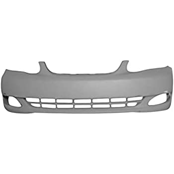 OE Replacement Toyota Corolla Front Bumper Cover Partslink Number TO1000297