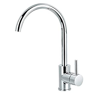 Kitchen Faucet High-arch Gooseneck Lead-free Solid Brass Sink Faucets
