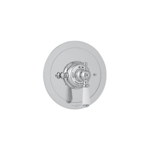 Rohl U.5565L-APC/TO Perrin and Rowe Edwardian Trim Package Only Concealed Thermostatic Mixer Without Volume Control in Polished ()