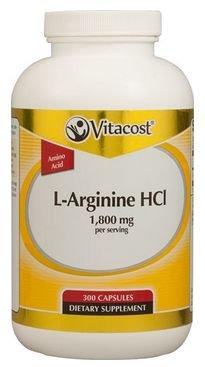 Vitacost L-Arginine HCl -- 1.8 grams per serving - 200 Capsules