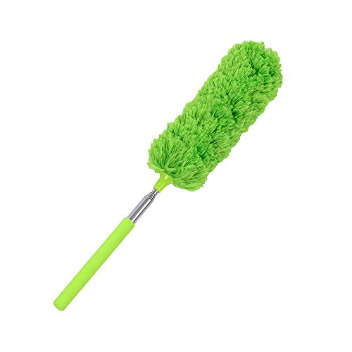 Alimao EXTENDABLE TELESCOPIC MAGIC MICROFIBRE CLEANING FEATHER DUSTER EXTENDING BRUSH Green