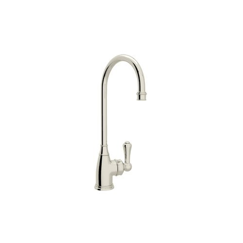 Rohl U.4700PN-2 U.4700-2 Perrin and Rowe Bar Faucet with Metal Lever Handle, Polished Nickel by Rohl