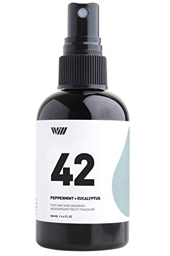 Way Of Will 42 Natural Foot and Shoe Deodorant Spray Fights Odor and Stink Ideal for Foot/Shoe Refreshing Feel Infused with Peppermint and Eucalyptus 130 ML / 4.4 FL OZ - Intense Deodorant Spray