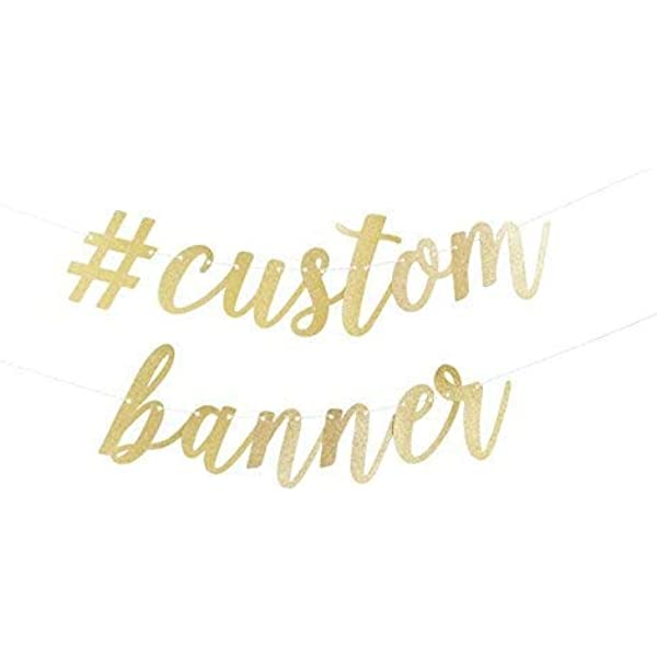 Custom letter banner personalise your event