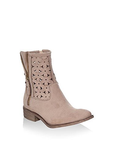 castoro Senhoras Ankle Gianni Boot Couro G0015 Liso Gregori UqnXg