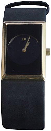 Danish Design Rectangle Dial Men's Black Leather Watch IV11Q867