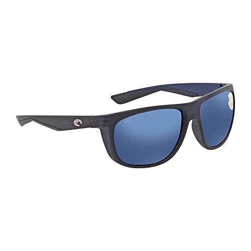 Costa Del Mar Kiwa 580P Kiwa, Matte Black Teak Blue Mirror, Blue ()