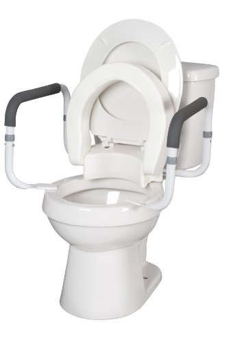 Hinged Toilet Seat with Arms (Elongated with ARMS)