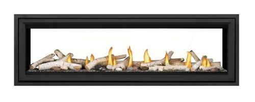 Vector LV62 Direct Vent See-Thru Gas Fireplace Package1 - NG