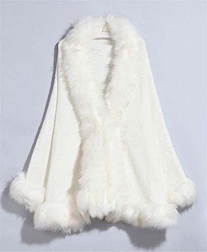 Capo Capo Cardigan Forti della Tromba Casual Moda Elegante Elegante Elegante Ecopelliccia Abbigliamento Scialle Donna Pelliccia Poncho Maniche Monocromo Autunno Pelliccia Invernali Caldo Rosarot in Poncho Taglie della Eleganti wqxHUYF