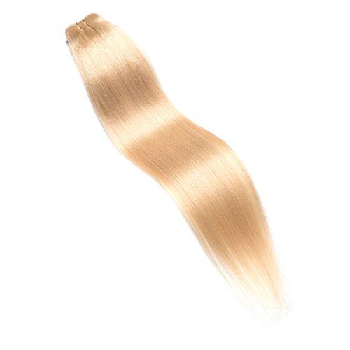"""GSL® Hair Sew in Hair Extension Weaving Hair Wefts 100% Human Hair Remy Straight Hair #613 Bleach Blonde (24"""")"""