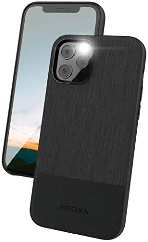 PROXA Phone Case Designed for iPhone 12/iPhone 12 Pro 6.1 inch (2020)/Compatible with Apple MagSafe Charger – [Protective/Scratchproof] – Classic Black