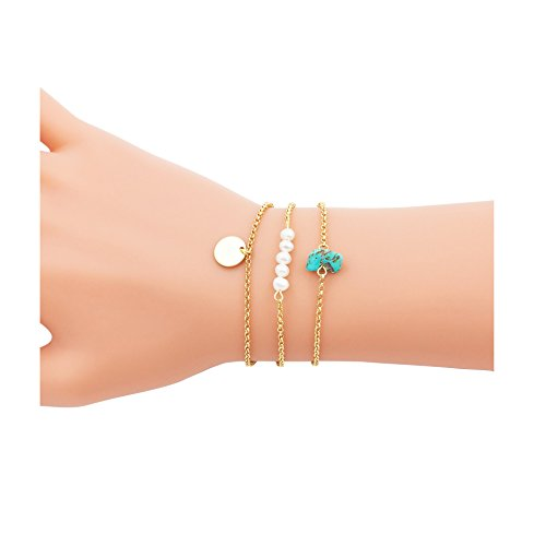Shoopic Layered Bracelets Delicate Pearl
