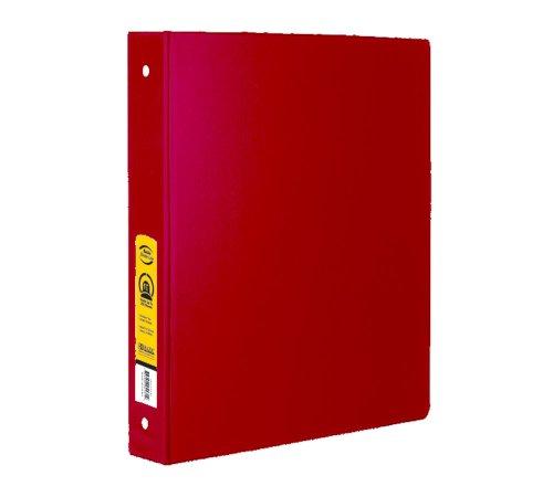 "BAZIC 1"" Red 3-Ring Binder w/ 2-Pockets"