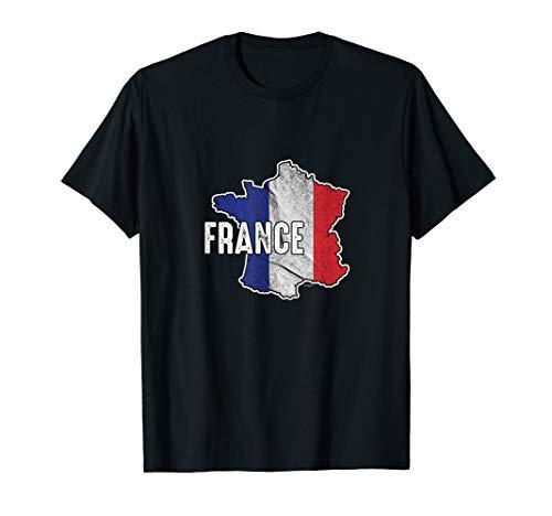 Vintage Patriotic French France Flag Patriotism T-Shirt ()