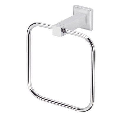 Cubis Plus Wall Mounted Towel Ring Finish: Chrome ()