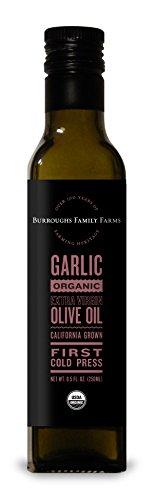 Extra Virgin Cold Pressed Organic Olive Oil - Garlic