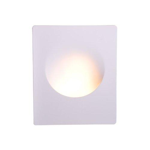 Isolicht Wand-Einbauleuchte aus Gips, GU10, große Öffnung rund