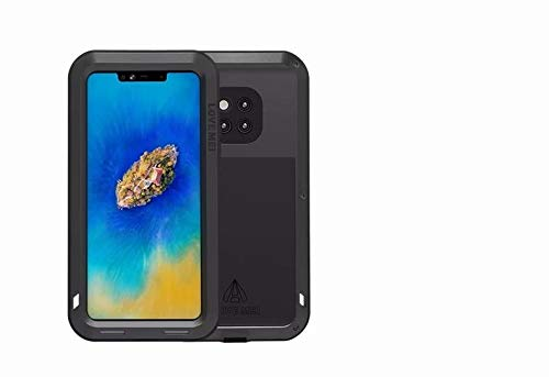 timeless design 80d4b d12c9 Huawei Mate 20 Pro Case, Love Mei Heavy Duty Shockproof Dirtproof  Waterproof Metal Silicone Hybrid Military Rugged Full Body Protective Cover  Case for ...