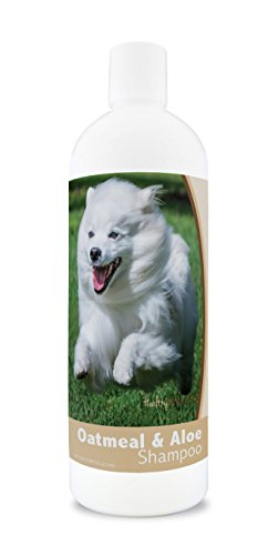 Healthy Breeds Dog Oatmeal Shampoo with Aloe for American Eskimo Dog - Over 200 Breeds - 16 oz - Mild & Gentle for Sensitive Skin - Hypoallergenic Formula & pH Balanced