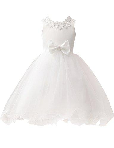 Bowknot Mit Blumenmädchenkleid Partei Prinzessin Erosebridal Ballkleid Kinder ag6cwY