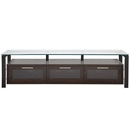 Plateau DECOR 71 EB Wood and Glass TV Stand, 71-Inch, Espresso Finish -