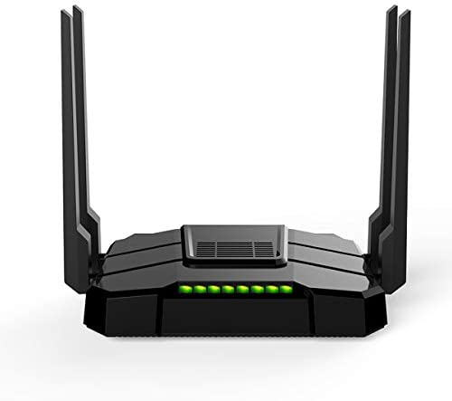 【Newest 2020】 Smart WiFi Router High Speed Gigabit Dual Band 2.4GHz and 5GHz AC1200 Wireless Router for Home and Gaming Coverage as much as 3500 squareft and 40 Plus Devices