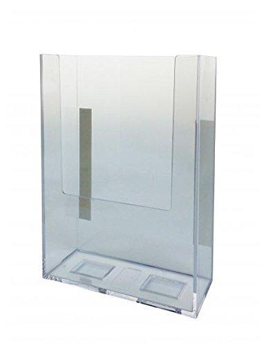 marketing holders rack card clear acrylic wall mount brochure holder tri fold literature - Rack Card Holders