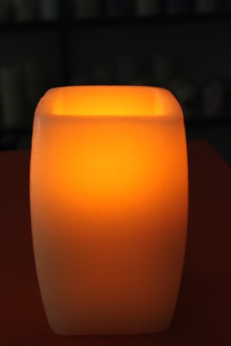 UZO1TM FLAMELESS Color Changing LED Candle with Timer & Remote Control
