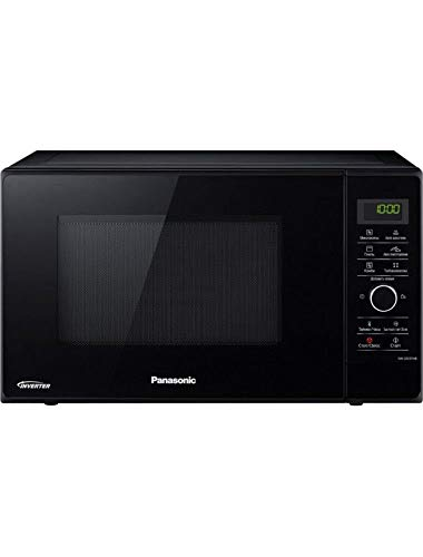 Panasonic NN-GD37HB 1000-Watt Grill Microwave Oven, 220V (Not for USA – European Cord), 23-Liter, Black