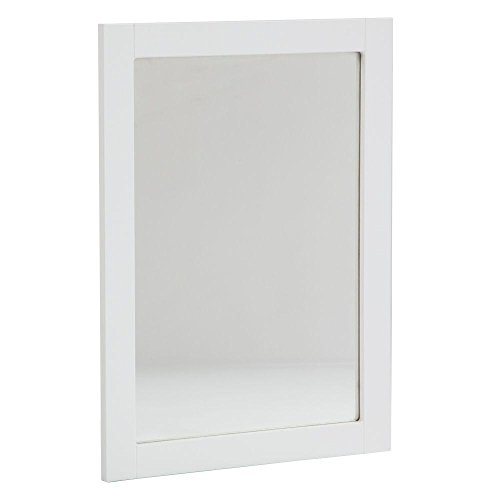 Lancaster 20 In. X 27 Inch Wood Material Rectangular Vanity Framed Wall Mirror, White