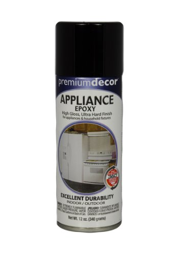 General Paint & Manufacturing PD-1539 Premium Decor Appliance Epoxy Spray with 360-Degree Spray Tip, Black